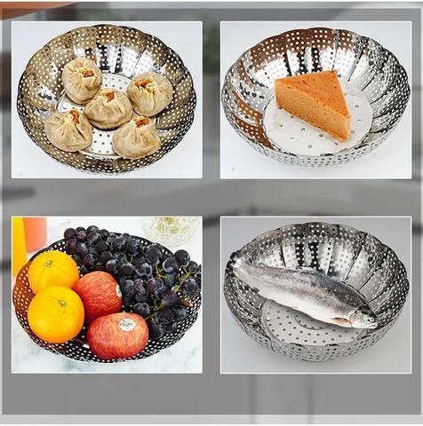 Imagem de Cesto Cozimento A Vapor Inox Legumes 23cm Utensilios Cozinha
