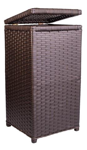 Imagem de Cesto de Roupa Fibra Sintética Tipo Vime Junco 45 Litros 30x30x60