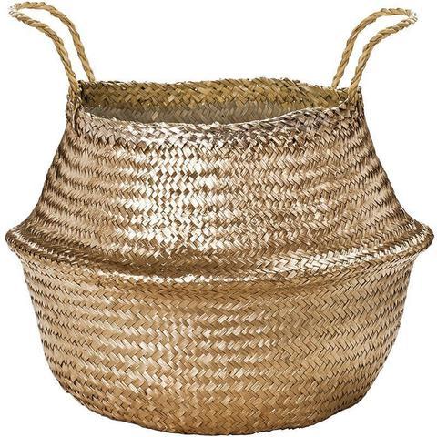Imagem de Cesto dourado em seagrass