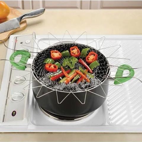 Imagem de Cesto Escorredor Alimentos Fritar Cozivapor Fritura Batata Pastel