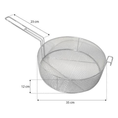 Imagem de Cesto Escorredor De Batata Frita Porção 35 Cm Aramado Galvanizado Alemtex