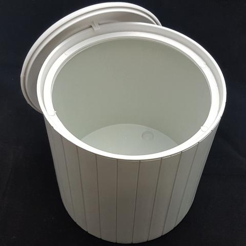 Imagem de Cesto Lixo 5L Banheiro Tampa Decorativa Lixeira Higiênica Branca