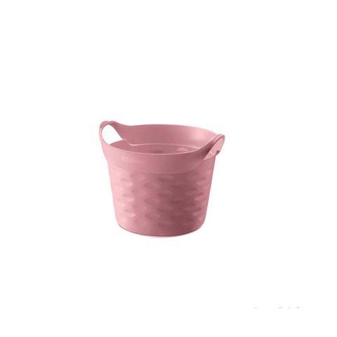 Imagem de Cesto organizador circular 3L plástico rosa quartz Sanremo