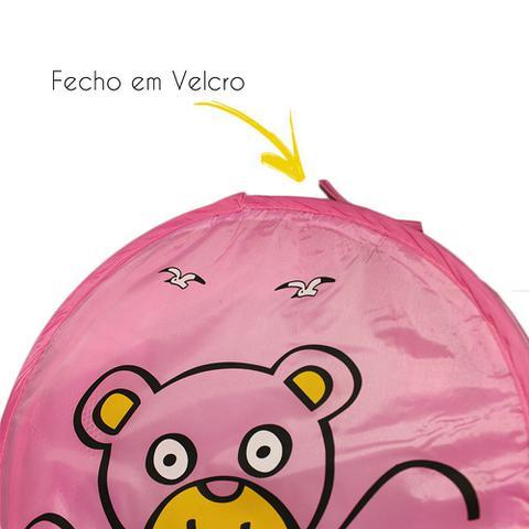 Imagem de Cesto Organizador De Brinquedo/Roupa Suja Dobrável Urso