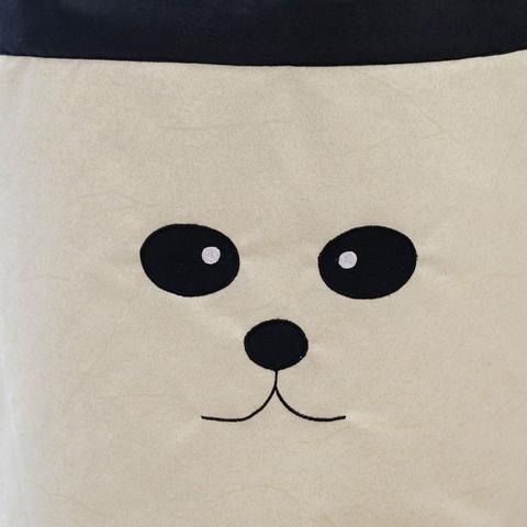 Imagem de Cesto Organizador de Brinquedos e Roupas Sujas Grande Panda com Alças