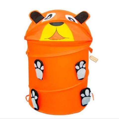 Imagem de Cesto organizador de brinquedos roupa suja dobravel infantil flexivel banheiro lavanderia quarto