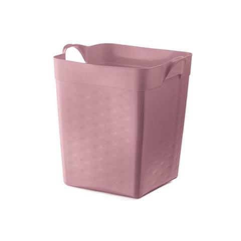Imagem de Cesto Organizador Quadrado em Plástico 18 Litros Rosa