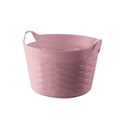 Imagem de Cesto Organizador Redondo em Plástico 30 Litros Rosa
