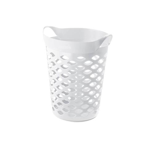 Imagem de Cesto Organizador Redondo em Plástico 44 Litros Branco