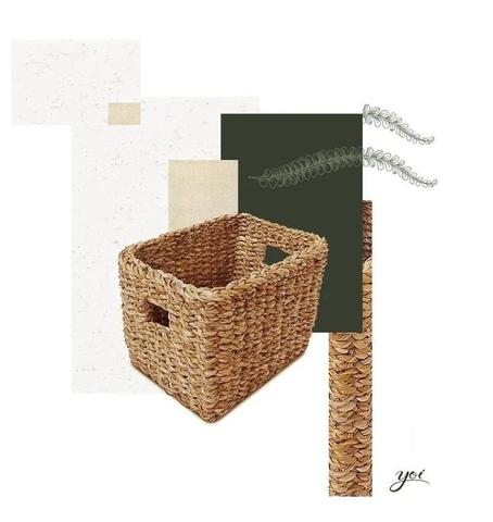 Imagem de Cesto Organizador Retangular Seagrass 28x22x20cm Tyft Yoi