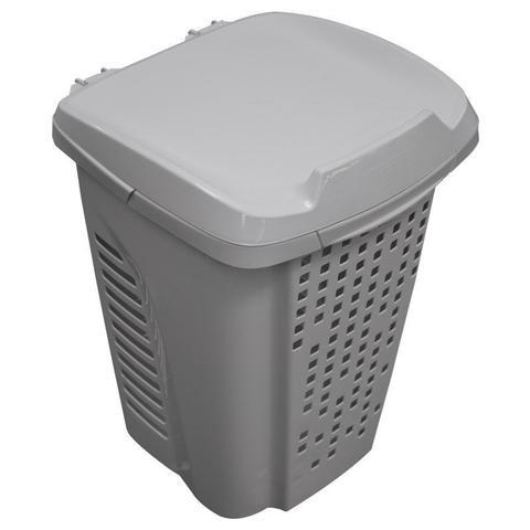 Imagem de Cesto para roupas suja 70 litros com divisor de roupas