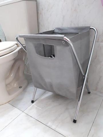 Imagem de Cesto Roupa Suja Organizador Quarto Lavanderia Banheiro Passerini