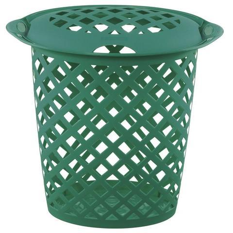 Imagem de Cesto roupas plástico 46,5l verde Cód. 5526