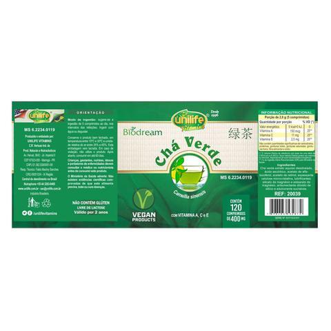 Imagem de Chá Verde (400mg) 120 Comprimidos - Unilife