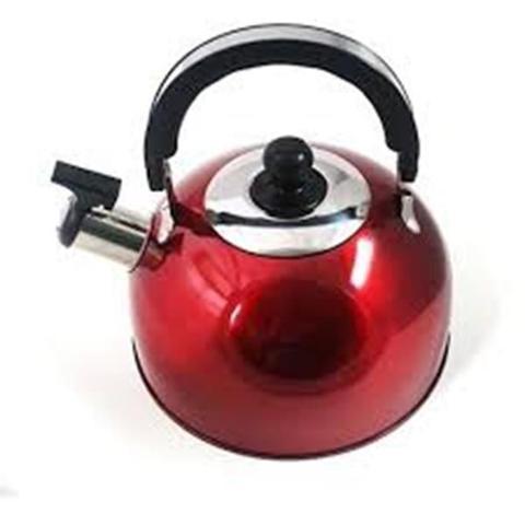Imagem de Chaleira Color com Apito 2,5 l - Vermelha