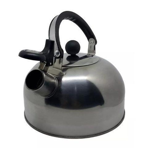 Imagem de Chaleira Inox 2 Litros Apito Bule Aço Água Cozinha Multiuso