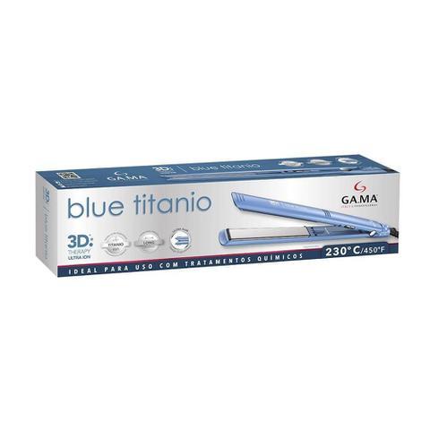 Imagem de Chapa Alisadora Gama Elegance 3D Blue Titanium Bivolt