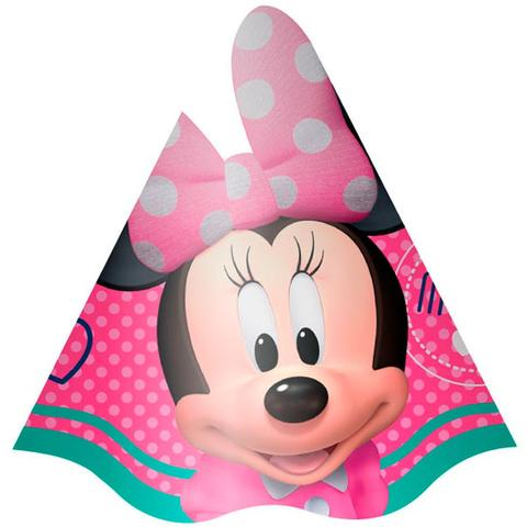 Chapéu de Aniversário Minnie Rosa 08 unidades - Regina festas ... 331d8d2774e