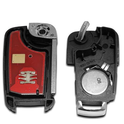 Imagem de Chave Canivete Chevrolet 3 Botões com Lâmina e Circuito Interno para Alarme Automotivo Pósitron