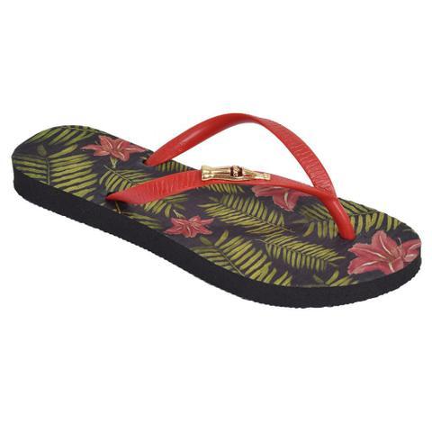 Imagem de Chinelo Feminino Flowers Of Summer - Coca Cola Shoes Preto