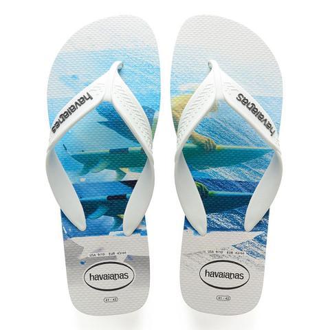 Imagem de Chinelo Masculino Surf - Havaianas Branco e Azul
