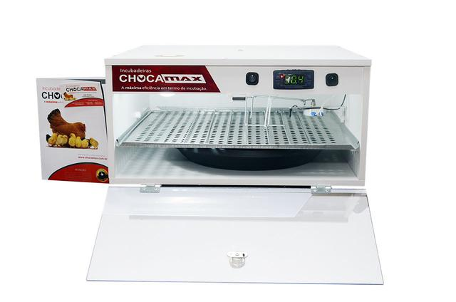 Imagem de Chocadeira Ovoscópio 60 A 70 Ovos Galinha Automática Digital 110 volts