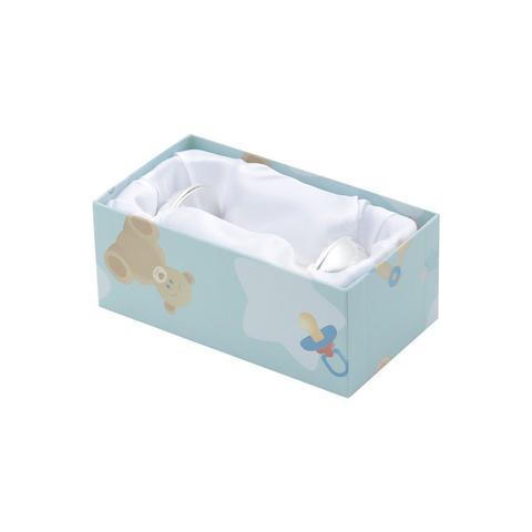 Imagem de Chocalho de bebê 10,5 cm de zamac prateado Prestige - 2953