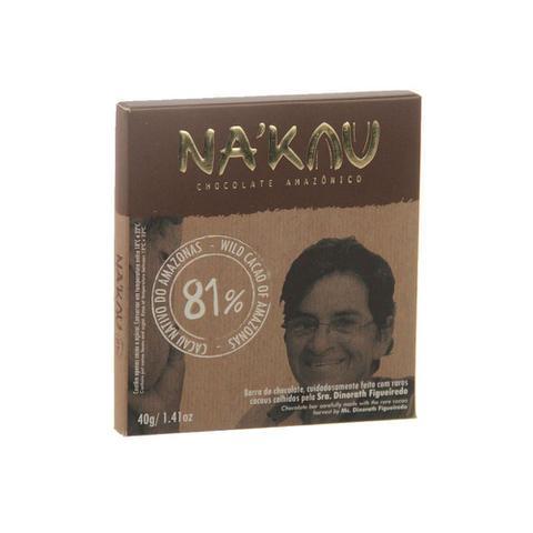 Imagem de Chocolate 81% cacau Na'Kau 40g