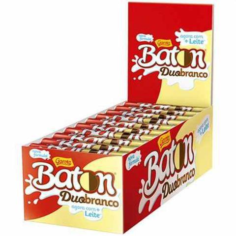 Imagem de Chocolate Baton Duo Ao Leite E Branco 16gr C/30un - Garoto