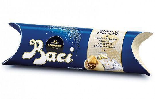 Imagem de Chocolate nestlé perugina baci bianco pralinés branco 42,9g