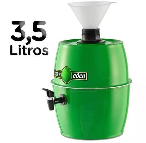 Imagem de Chopeira 3,5 Litros Com Funil Água De Coco Suco Refri Gelado Com Funil Válvula E Serpentina