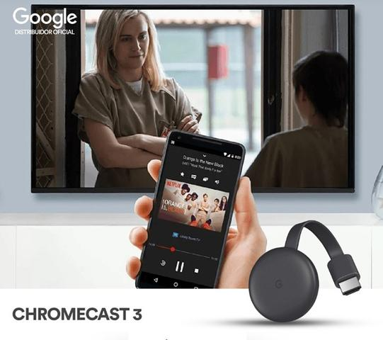 Imagem de Chrome Cast Google Hdmi Chrromecast P/ Smartphone Tablet Etc