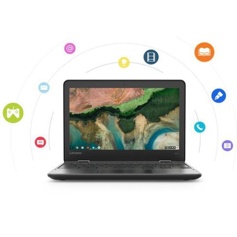 Imagem de Chromebook Lenovo 300e Celeron 4GB 32GB eMMC Google Chrome OS 11.6