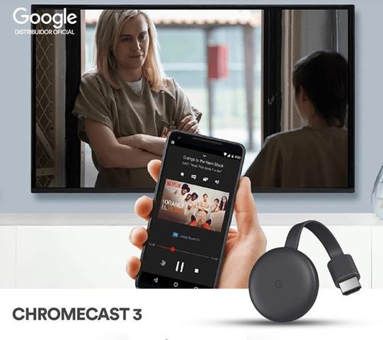 Imagem de Chromecast 3geração Google Netflix Youtube Lançamento Google