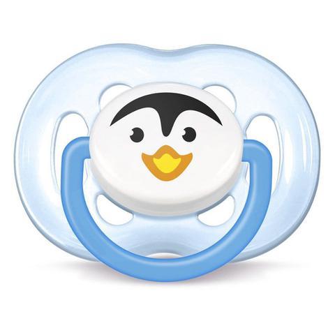 Imagem de Chupeta Avent Freeflow Pinguim Unitário  Menino