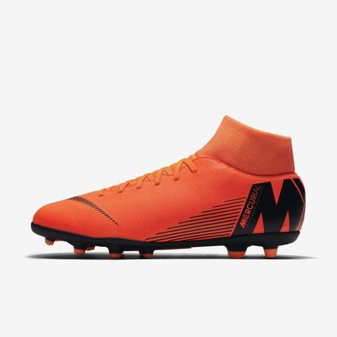 Imagem de Chuteira botinha nike mercurial superfly 6 club fg campo laranja