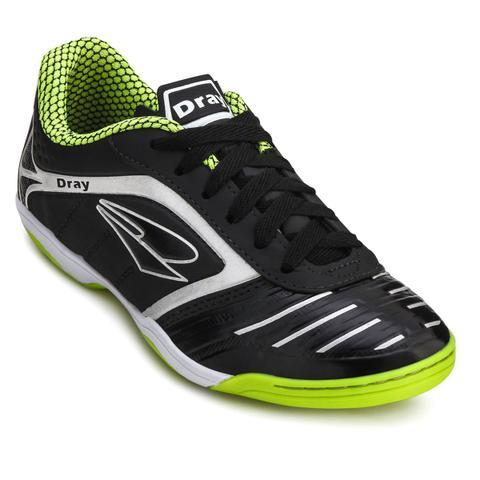 68c9d445cb161 Chuteira Futsal Dray Topfly IV Infantil 363 - Preto Incolor - Tênis ...