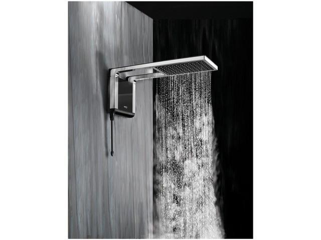 Imagem de Chuveiro Lorenzetti Acqua Storm Ultra 7800W - Preto e Cromado Temperatura Gradual