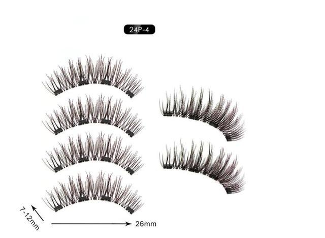 Imagem de Cilios Postiços Magneticos 6D Natural Olho Inteiro 4 Imãs!!!