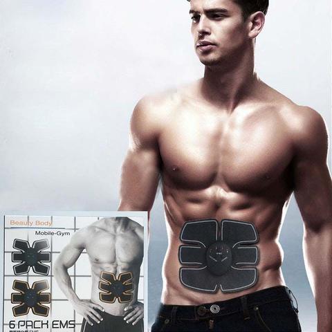 Imagem de Cinta Abdominal Eletrica Muscular 6 Pack Ems Tonificador (34940/mc40749)