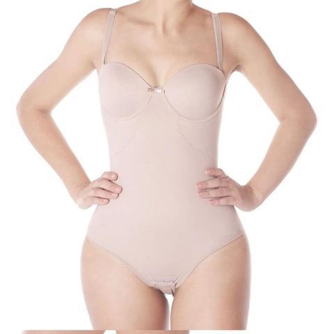 Imagem de Cinta Body Modelador TQC Com Bojo Alta Compressão Macacão Reduz Medidas Comprimi Alças Reguláveis