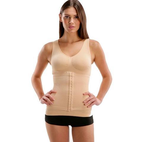 Imagem de Cinta Camiseta Modeladora Redutora Slim Comfy Bege