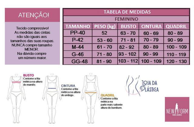 Imagem de Cinta Modelador Pós-cirúrgia Plástica Short New Form