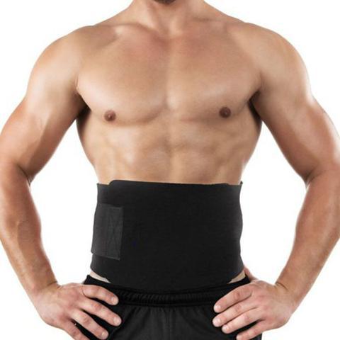 Imagem de Cinta Modeladora Abdominal Térmica Reduz Medidas Afina Cintura Calor Exercício Sauna Queima Gordura