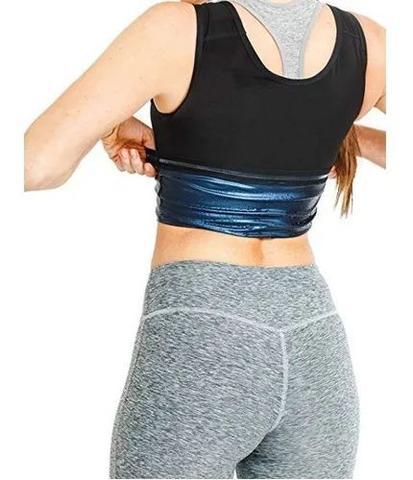 Imagem de Cinta Modeladora Camiseta Queima Gorduras Barriga Sauna - Feminina