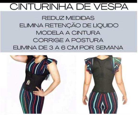 Imagem de Cinta Modeladora Corpete C/ Alça Cinturinha De Vespa + Gel TAMANHO P