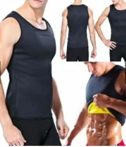 Imagem de Cinta Modeladora Térmica Regata Queima Gorduras Barriga Sauna Cinta Modeladora Sauna Masculina