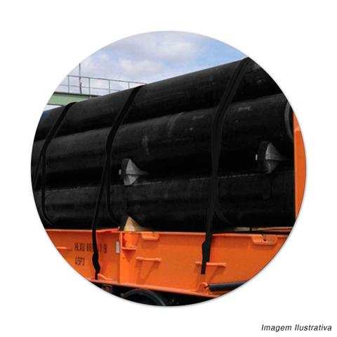 Imagem de Cinta Para Amarrar Cargas Com Catraca Vonder Capacidade 1,5 Toneladas 460cm Fixador de Carga Preto