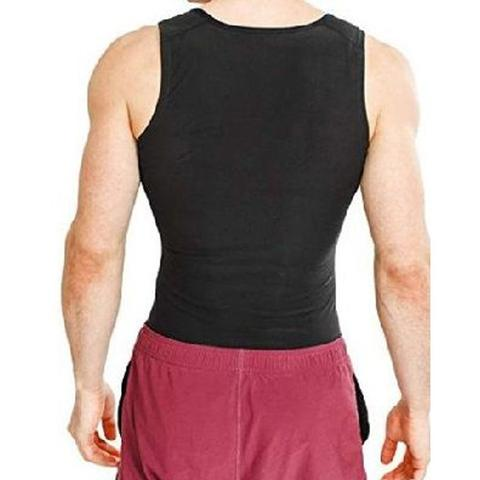 Imagem de Cinta Regata Masculina Queima Gorduras Barriga Camiseta