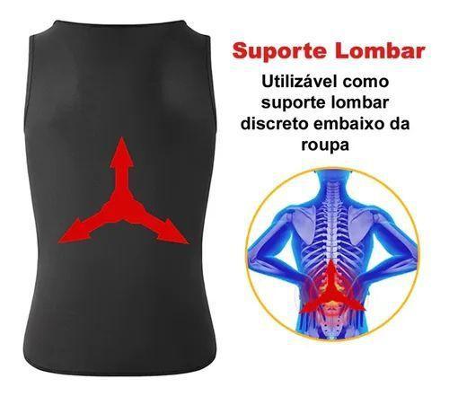 Imagem de Cinta Regata Queima Gorduras Barriga Abdômen Camiseta Sauna - Masculino